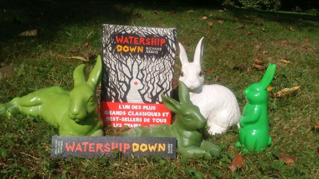 De gauche à droite, Bigwig, Hazel, Silvère et Fyveer : les lapins de la garenne de Watership Down.