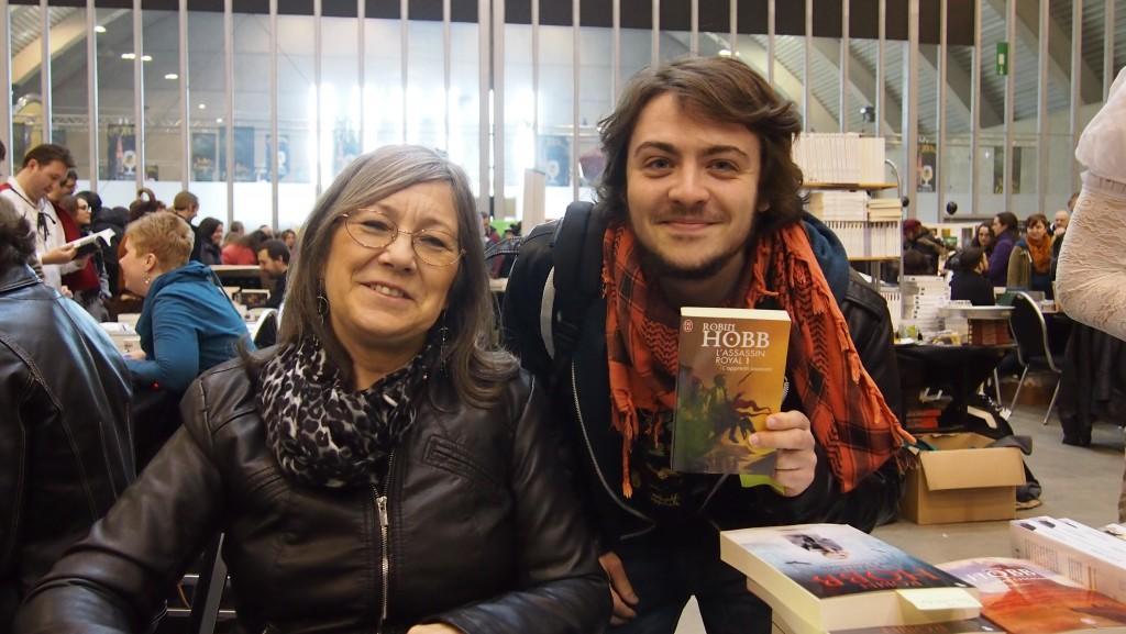 Robin Hobb et moi au Festival Trolls et Légendes 2015