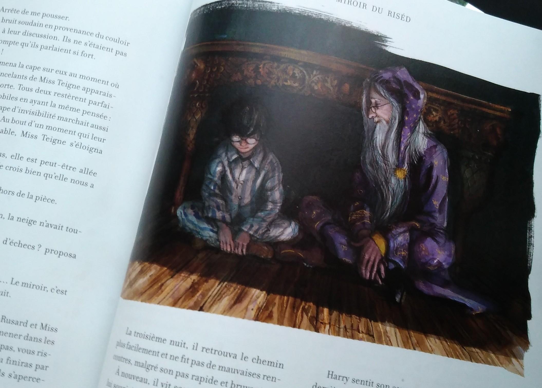 Harry potter illustr par jim kay librairie au temps lire for Miroir harry potter