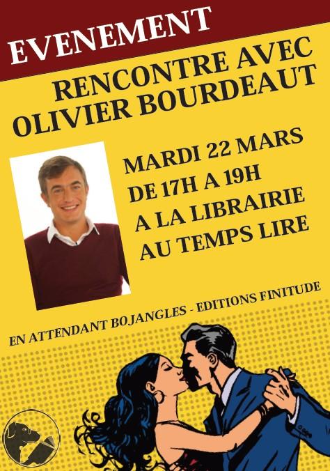 Rencontrez Olivier Bourdeaut à la librairie Au Temps Lire le 22 mars à 16h