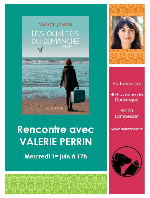 Rencontre avec Valérie Perrin le 1er juin