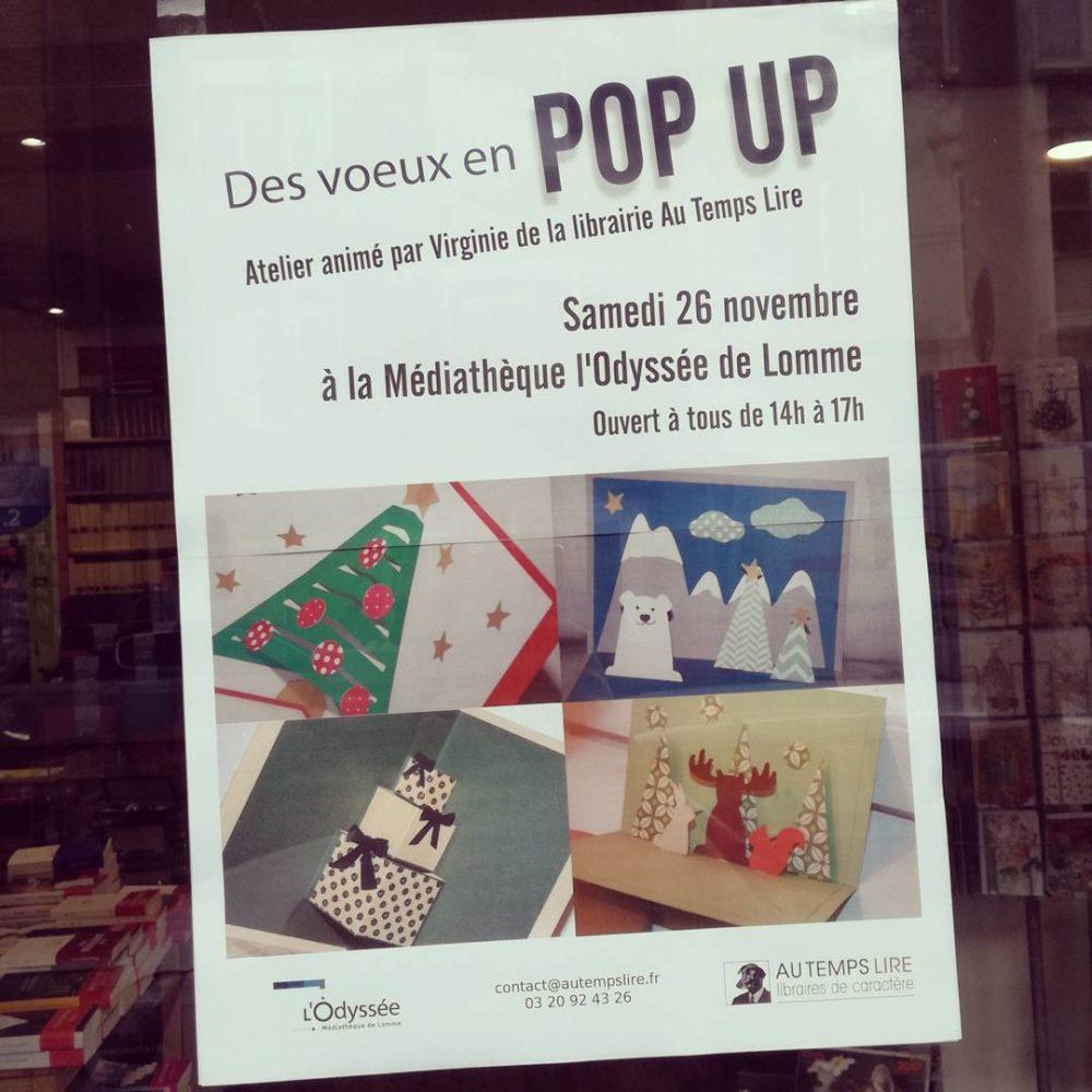Des voeux en Pop Up : un atelier créatif avec Virginie à la Médiathèque l'Odyssée