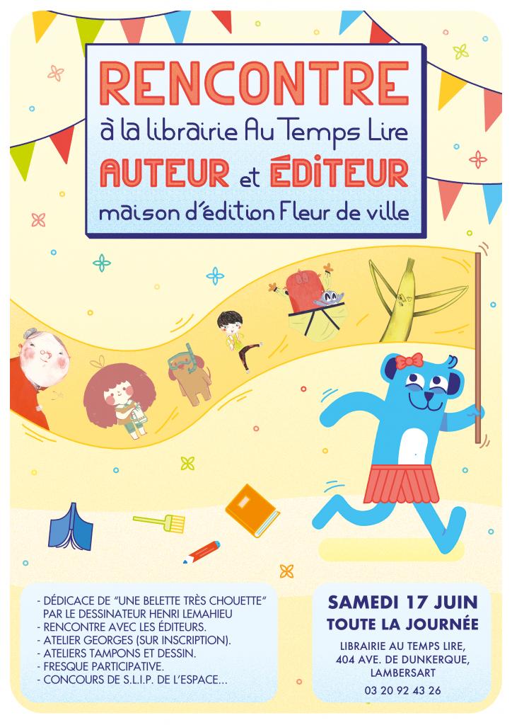 Les éditions Fleur de Ville et le Magazine Georges à la librairie le 17 juin !