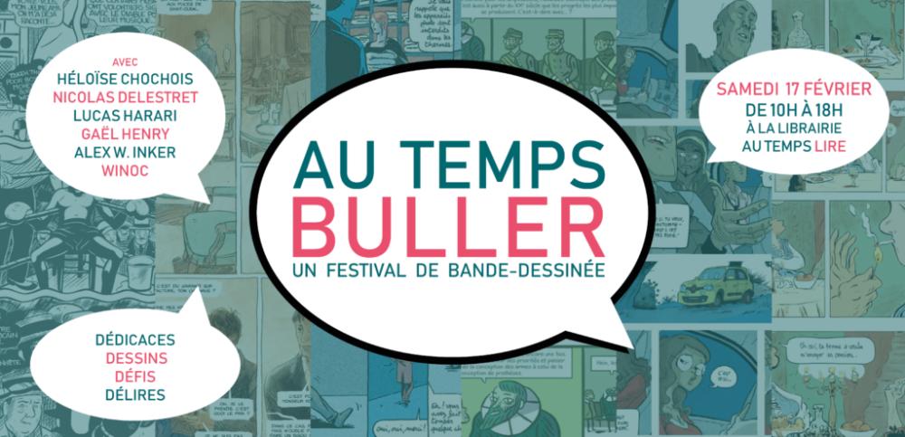 AU TEMPS BULLER : un Festival de Bande-Dessinée à la librairie !