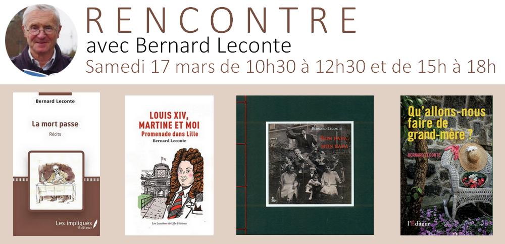 Rencontre avec Bernard Leconte ce samedi 17 mars !