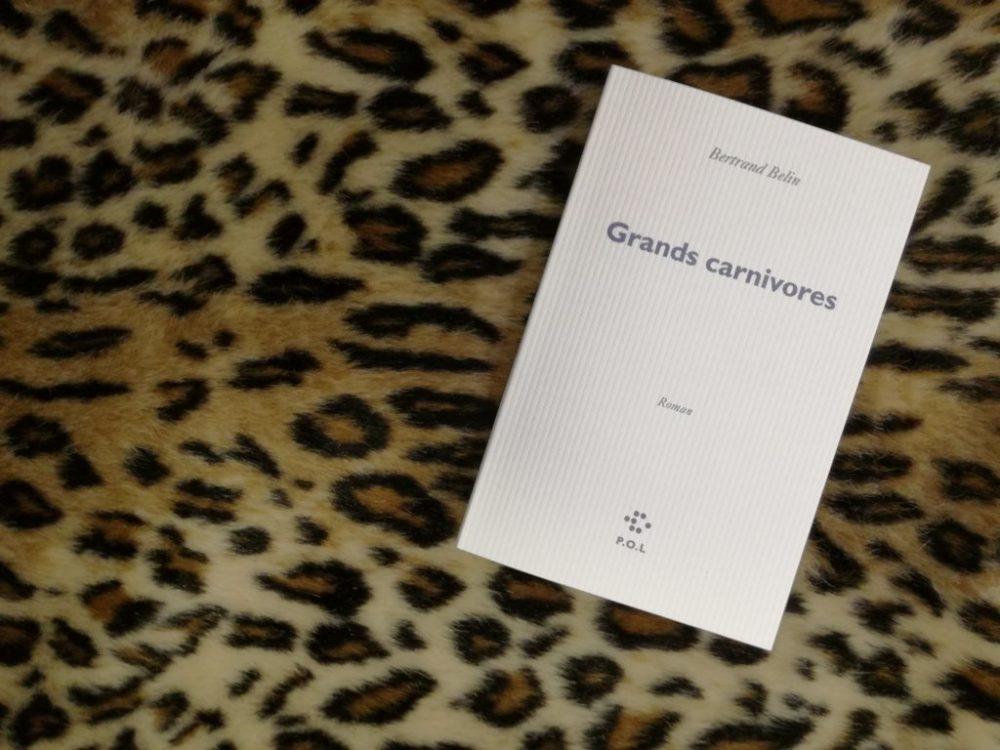 GRANDS CARNIVORES, Bertrand Belin, éditions P.O.L.