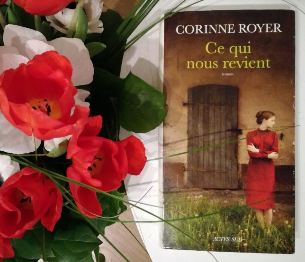 CE QUI NOUS REVIENT, Corinne Royer, éditions Actes Sud