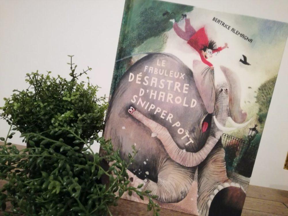 LE FABULEUX DÉSASTRE D'HAROLD SNIPPERPOTT, Béatrice Alemagna, éditions Albin Michel