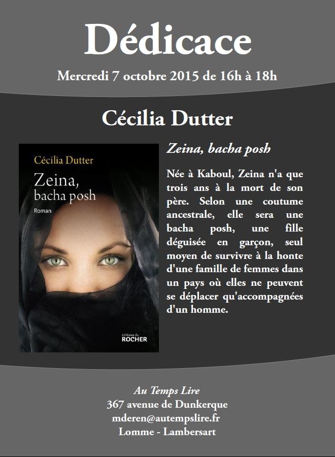 Dédicace de Cécilia Dutter à Lomme – Lambersart !