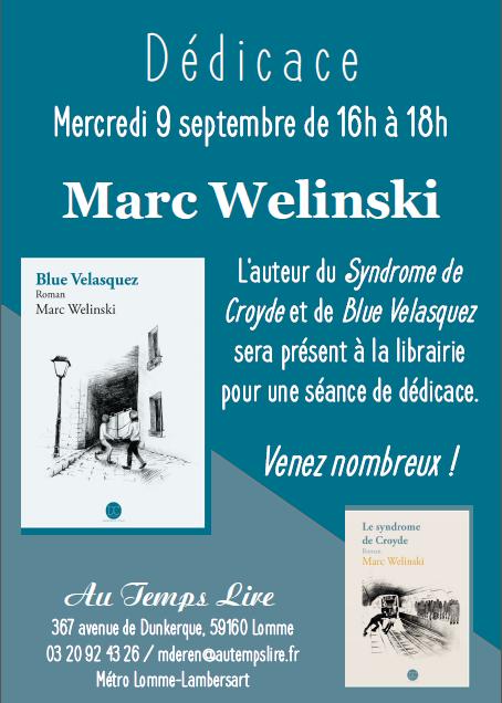 Dédicace de Marc Welinski à la librairie !