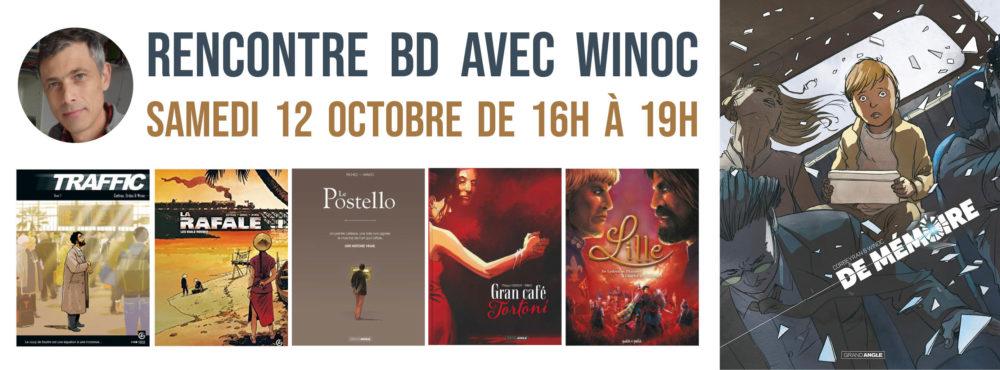 SAMEDI 12 OCTOBRE : Séance de dédicace BD avec Winoc