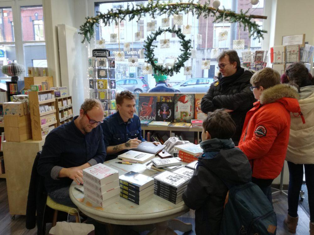 Souvenirs de la rencontre avec Thibault Vermot et Alex W. Inker pour leur livre La Route Froide publié chez Sarbacane !