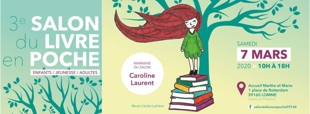 SAMEDI 7 MARS : Salon du Livre en Poche de Lomme !